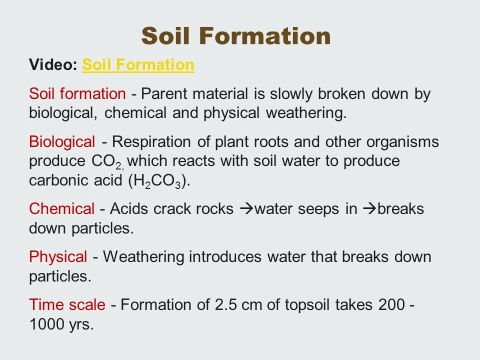 Definition of soil the outermost solid layer of the earth for Soil formation