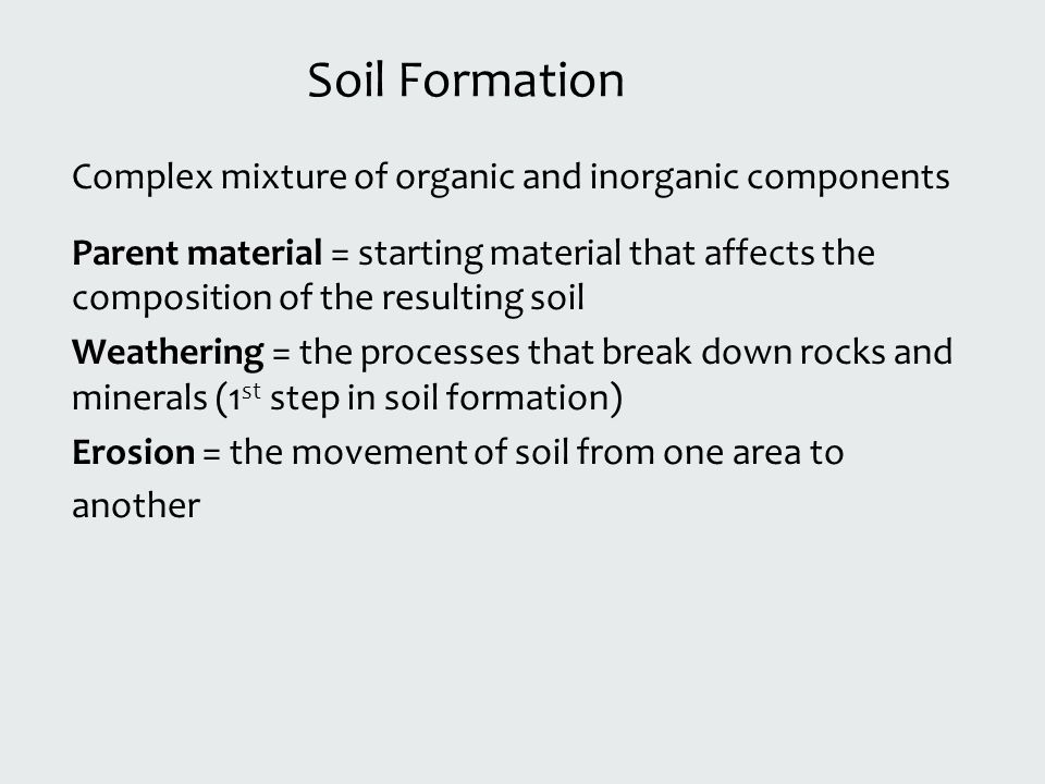 Definition of soil the outermost solid layer of the earth for Soil composition definition