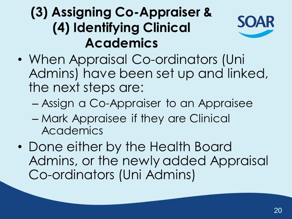 (3) Assigning Co-Appraiser & (4) Identifying Clinical Academics