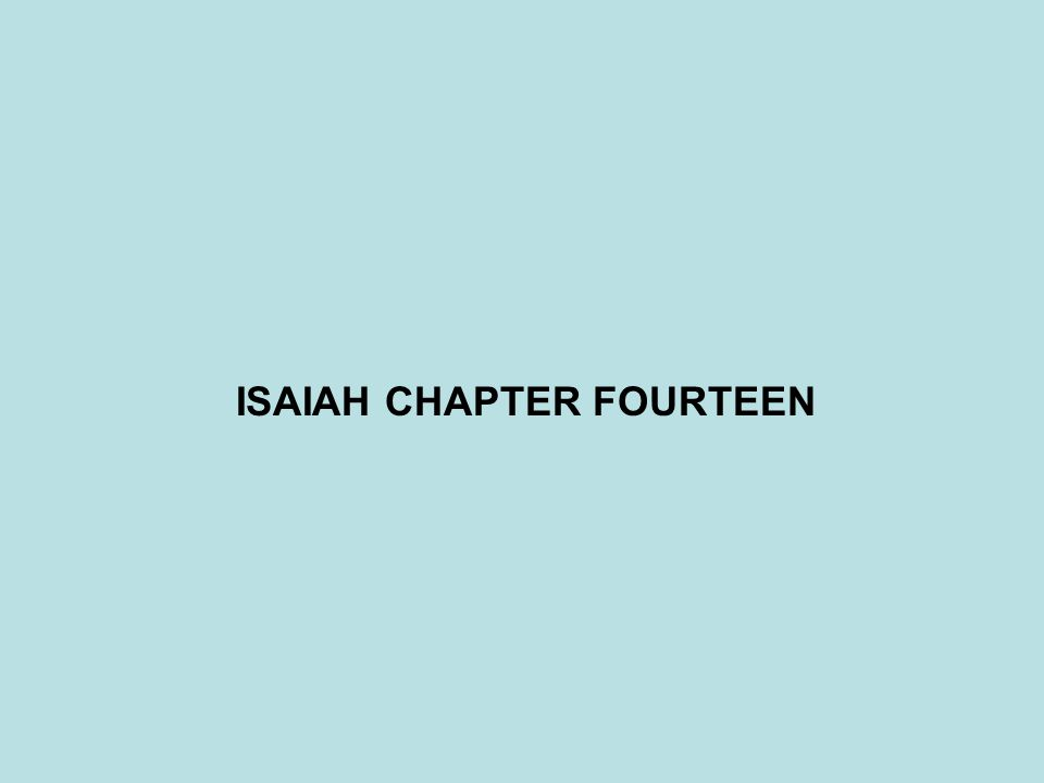 ISAIAH CHAPTER FOURTEEN