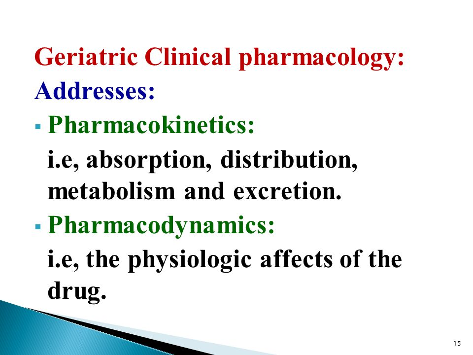 Geriatric Clinical pharmacology: