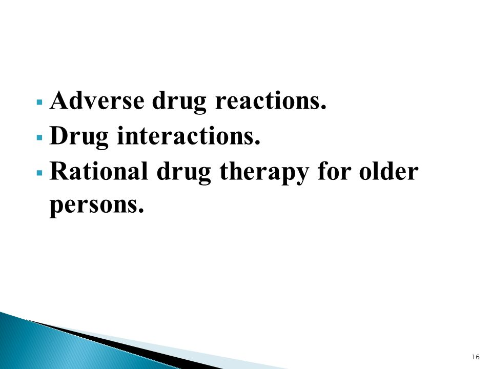 Adverse drug reactions.