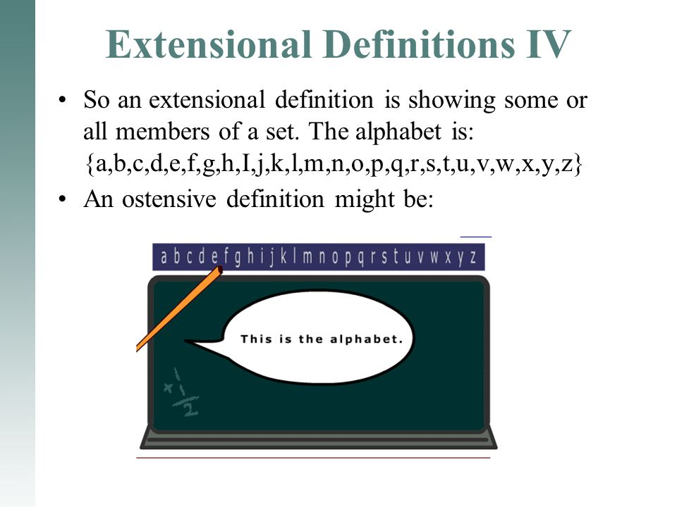 Extensional Definitions IV