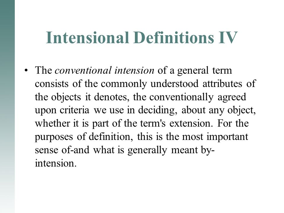 Intensional Definitions IV