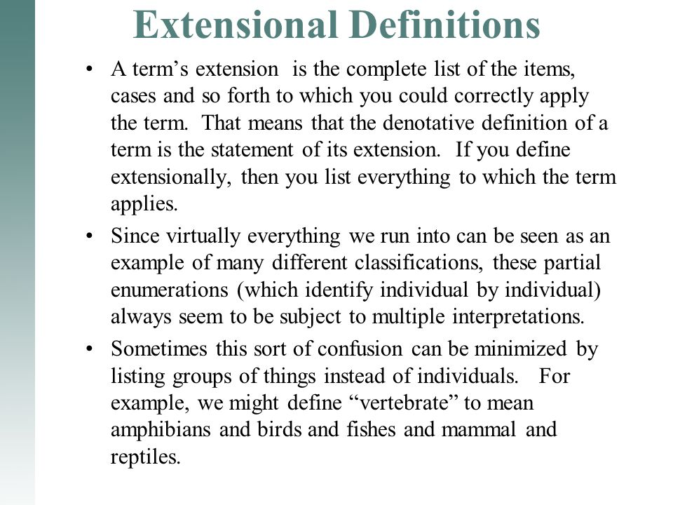 Extensional Definitions