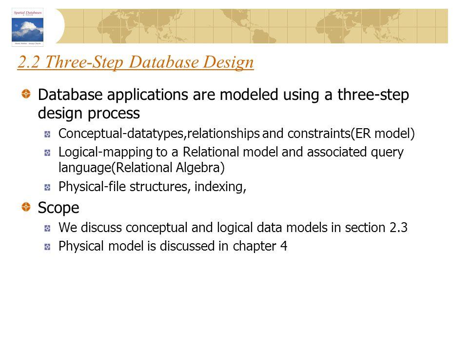 2.2 Three-Step Database Design