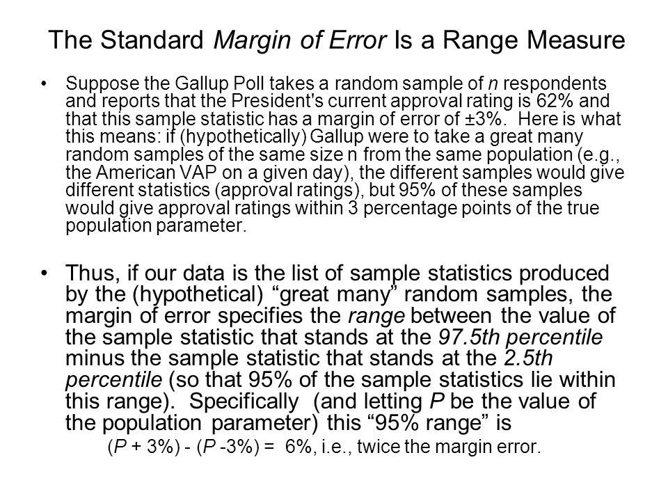 The Standard Margin of Error Is a Range Measure