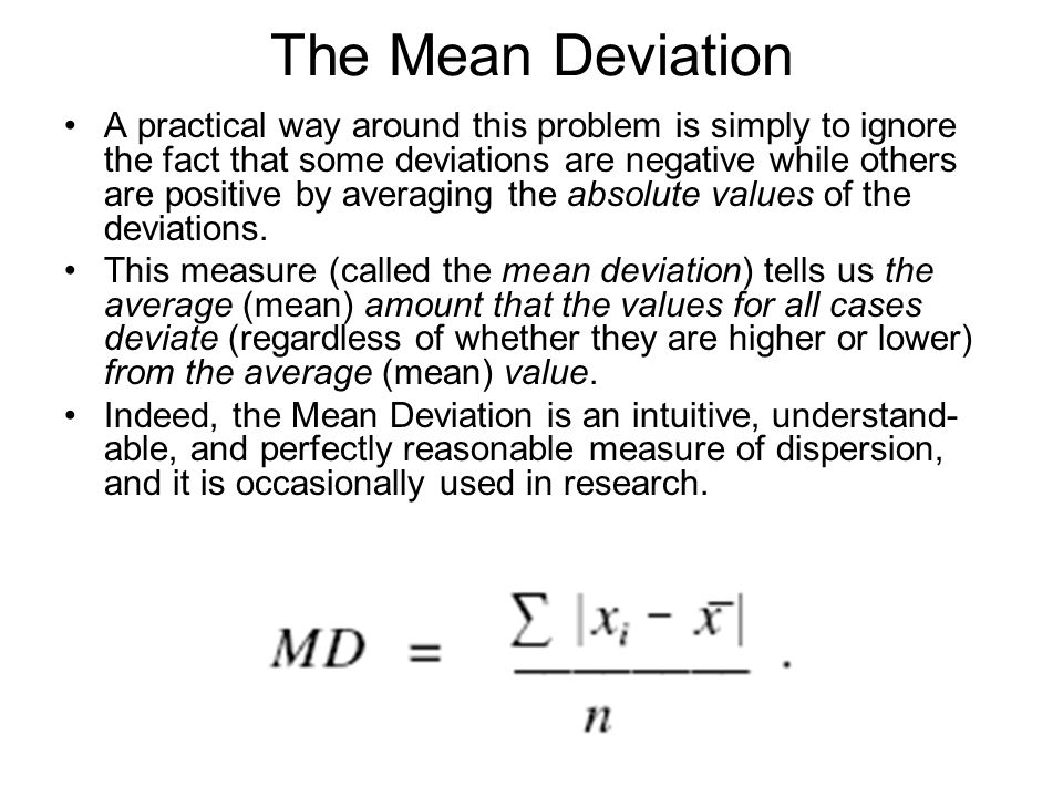 The Mean Deviation