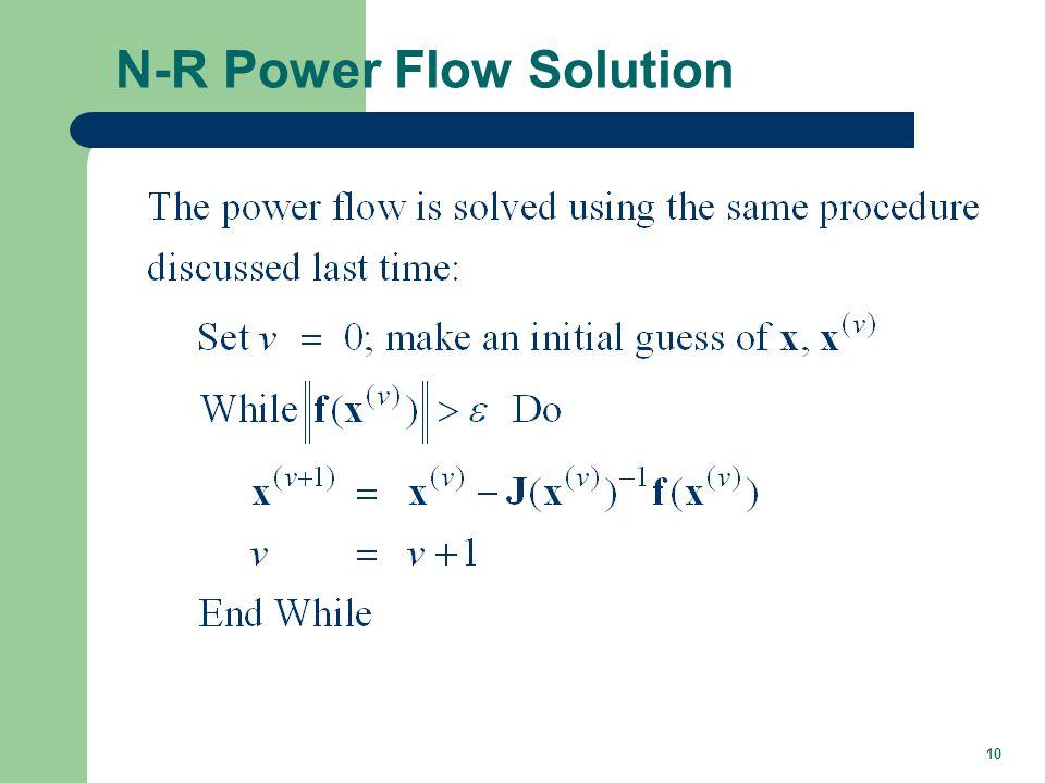 Power Flow Jacobian Matrix