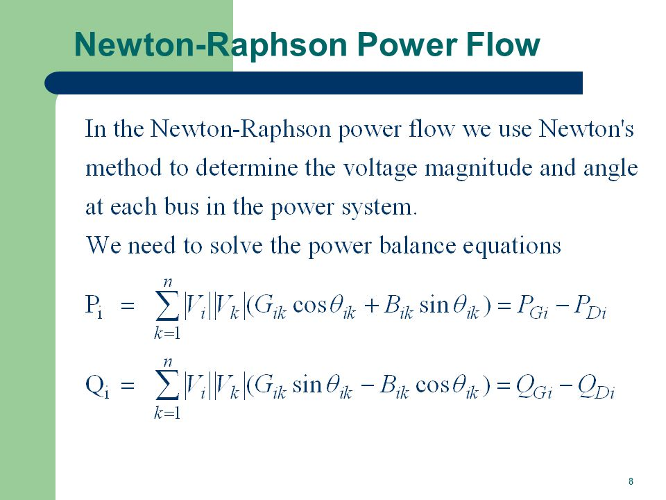 Power Flow Variables