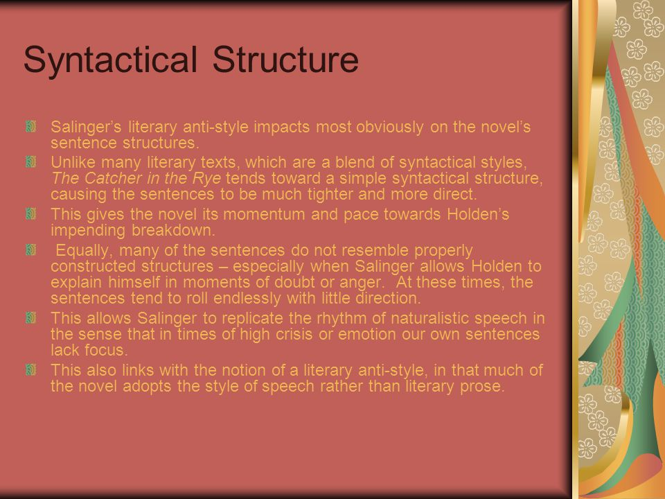 Syntactical Structure