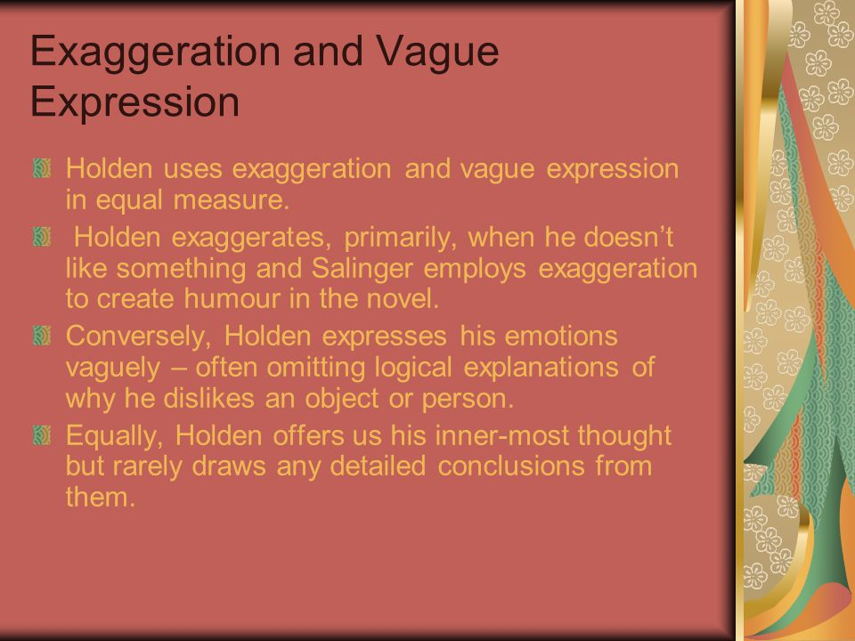 Exaggeration and Vague Expression