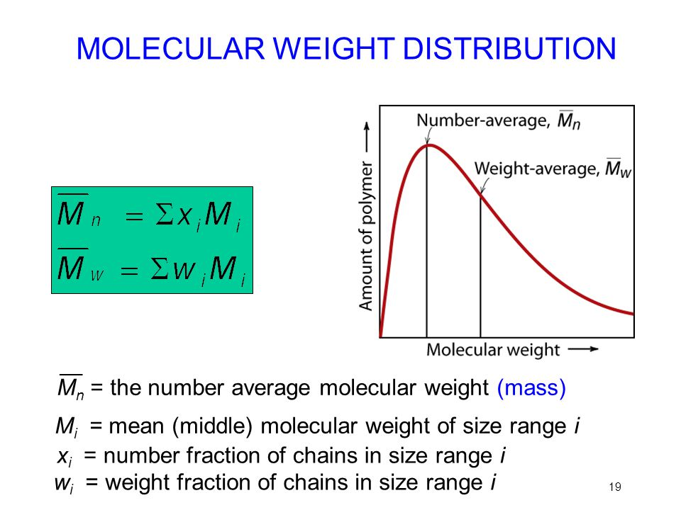 MOLECULAR WEIGHT DISTRIBUTION