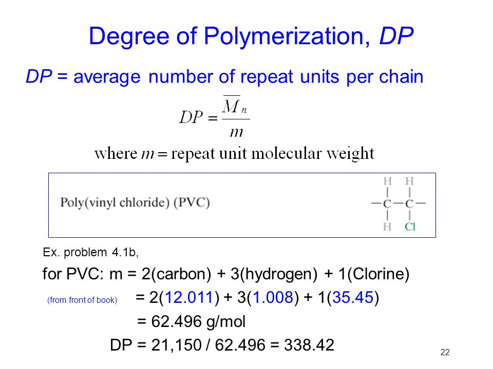 Degree of Polymerization, DP