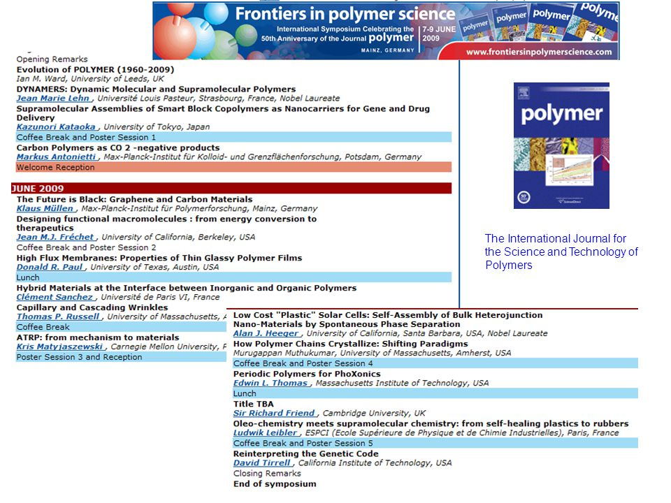 The International Journal for the Science and Technology of Polymers