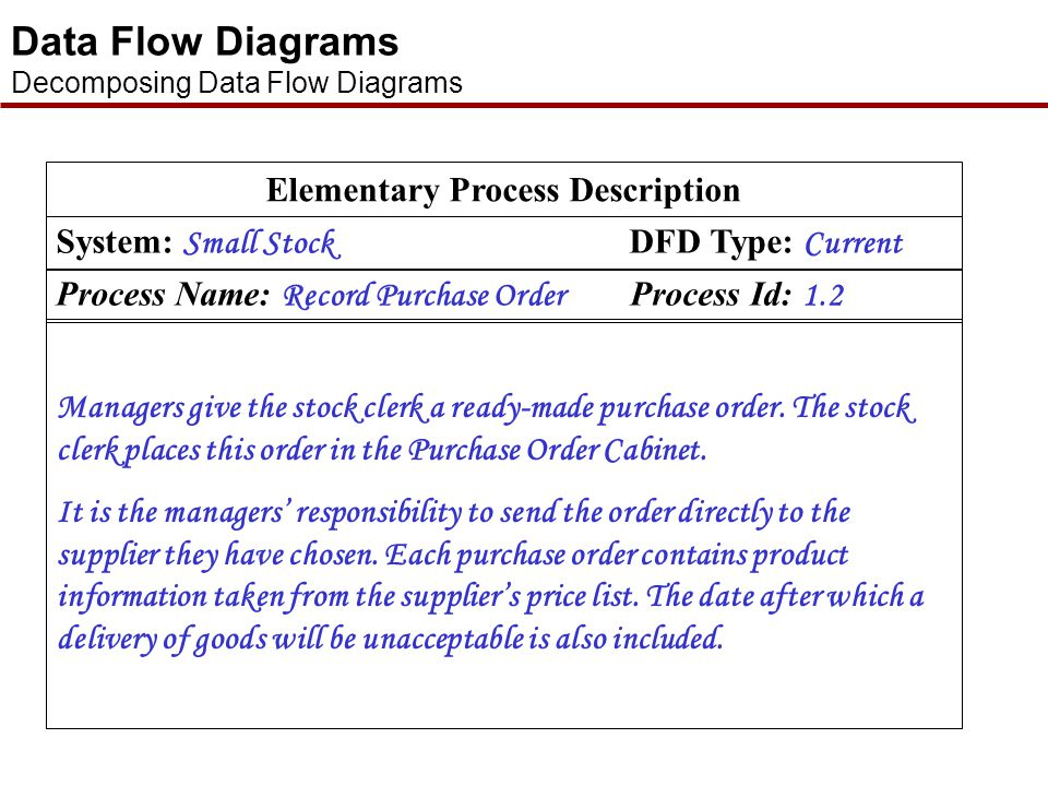 Elementary Process Description