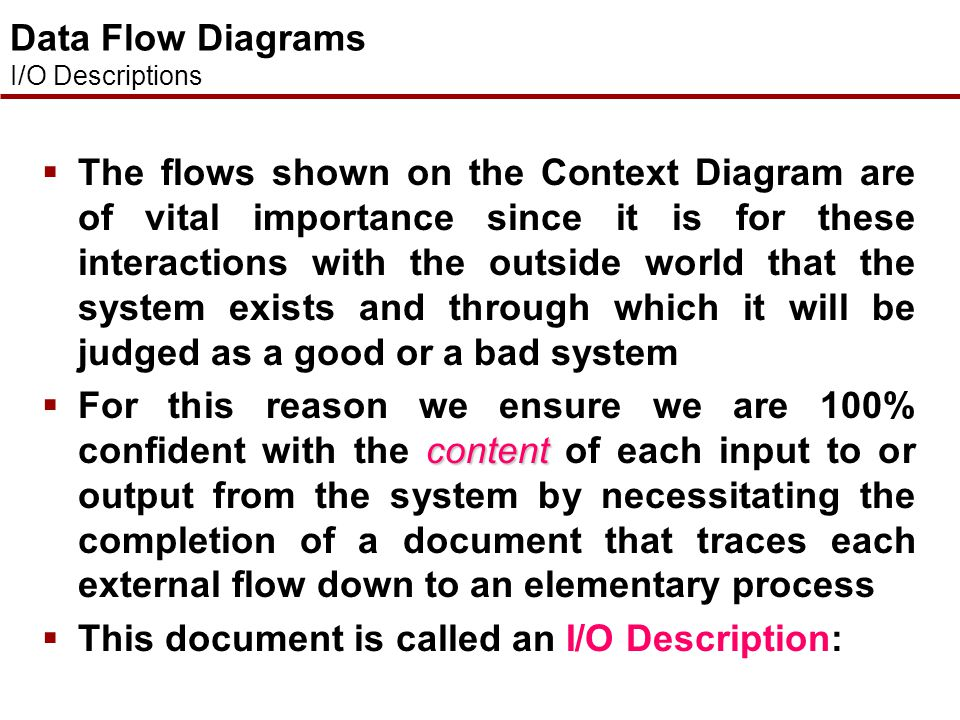 This document is called an I/O Description: