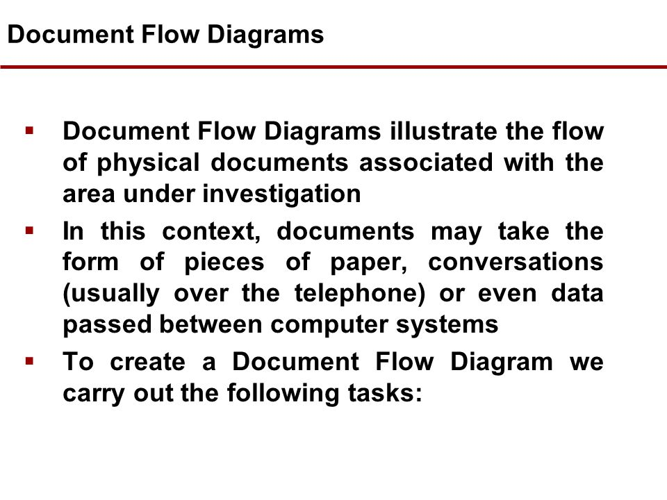 Document Flow Diagrams