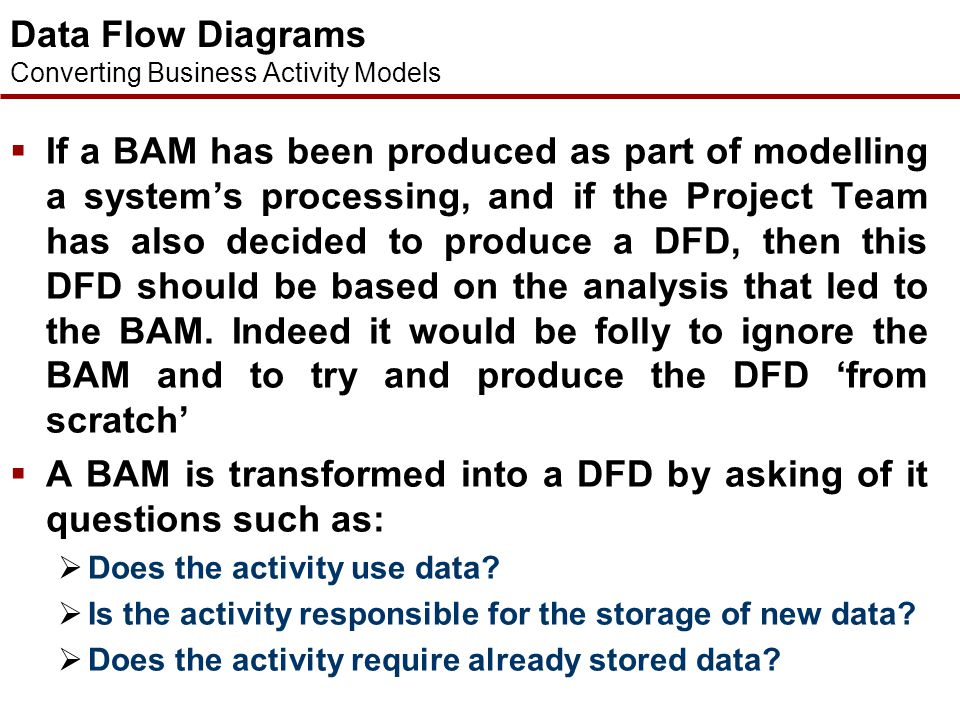 Data Flow Diagrams Converting Business Activity Models