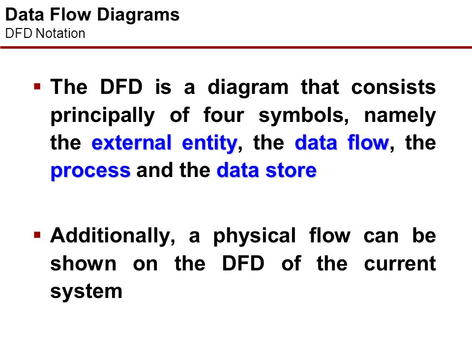 Data Flow Diagrams DFD Notation