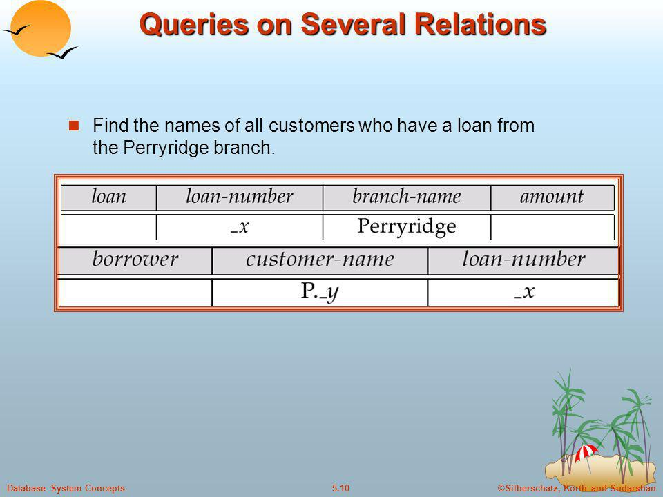Queries on Several Relations