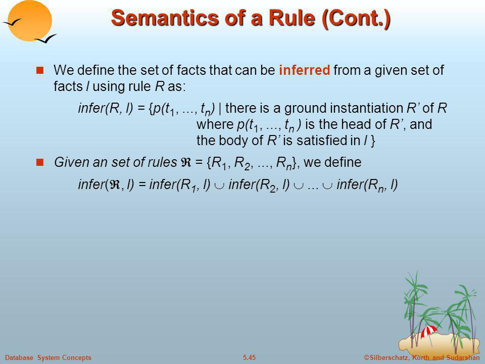 Semantics of a Rule (Cont.)