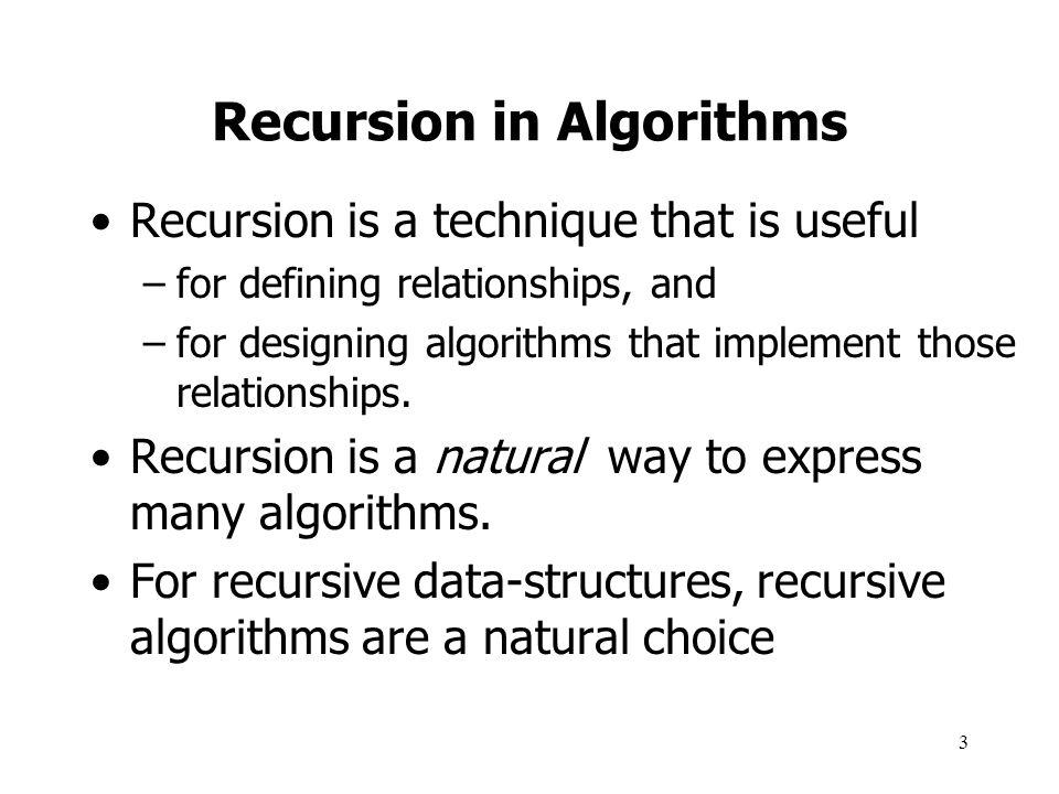 Recursion in Algorithms