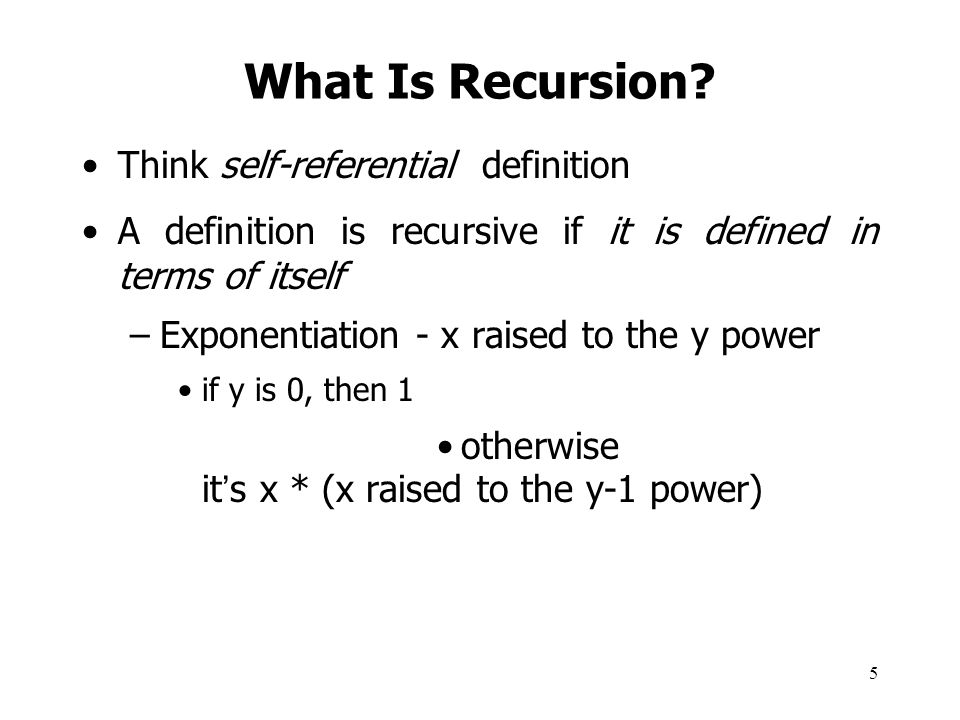 What Is Recursion Think self-referential definition