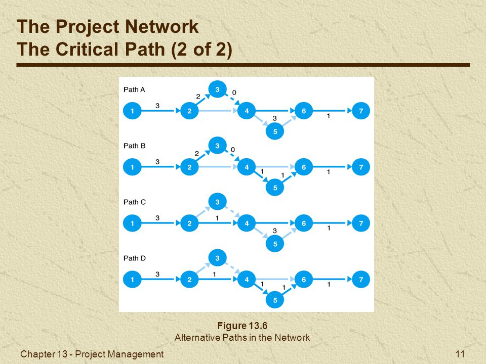 Alternative Paths in the Network