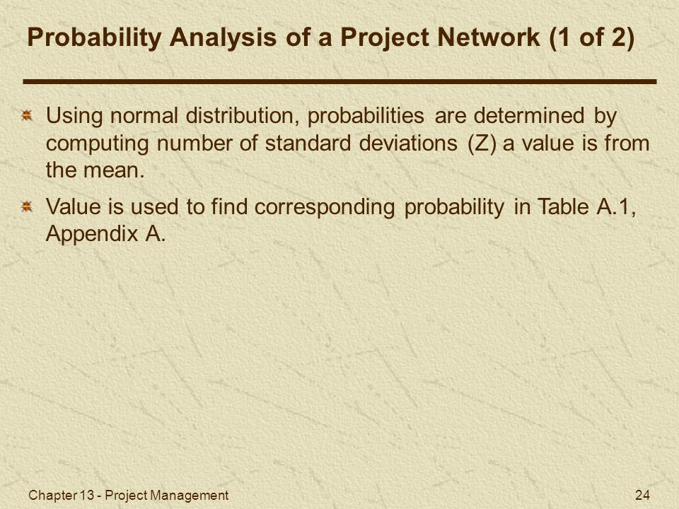 Probability Analysis of a Project Network (1 of 2)