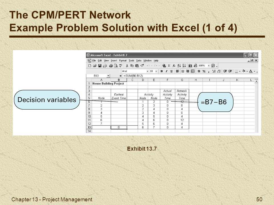 Example Problem Solution with Excel (1 of 4)