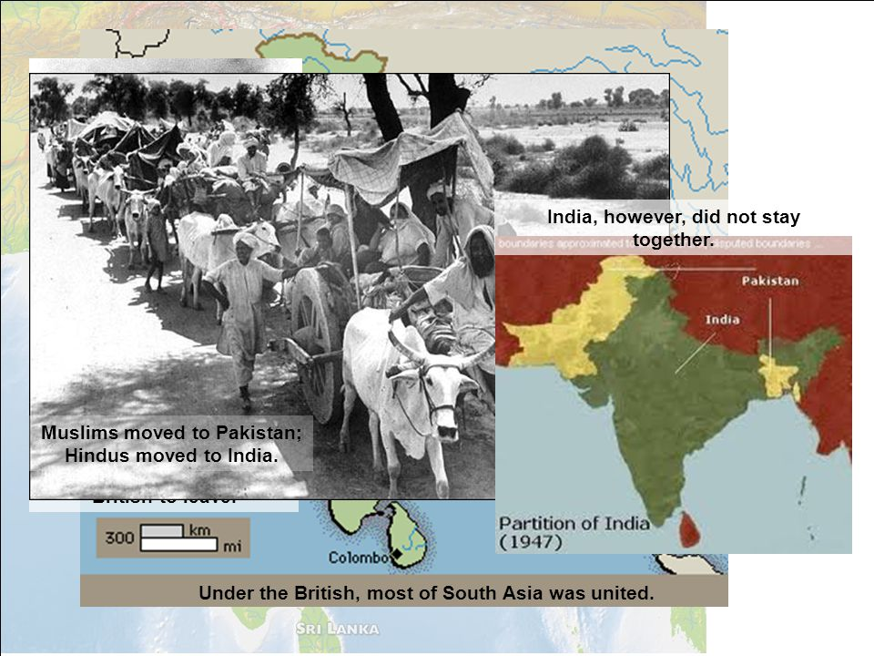 India, however, did not stay together.