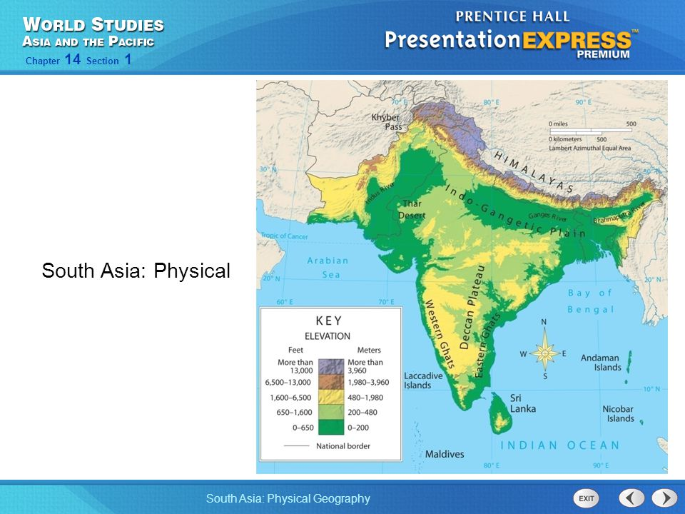South Asia: Physical