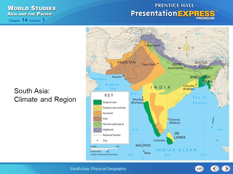 South Asia: Climate and Region