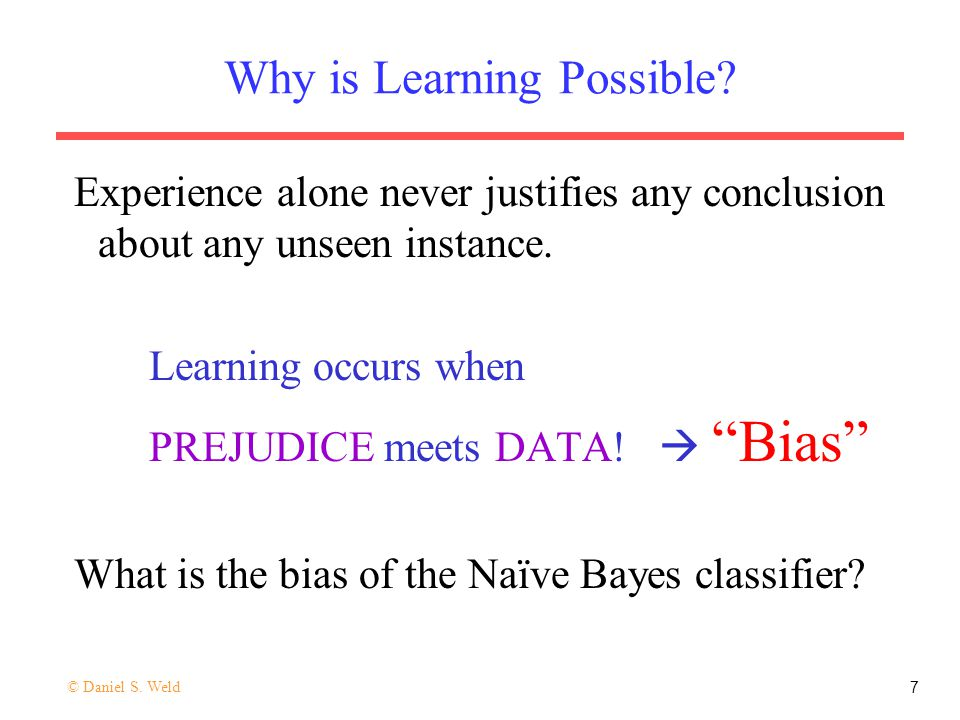 Why is Learning Possible