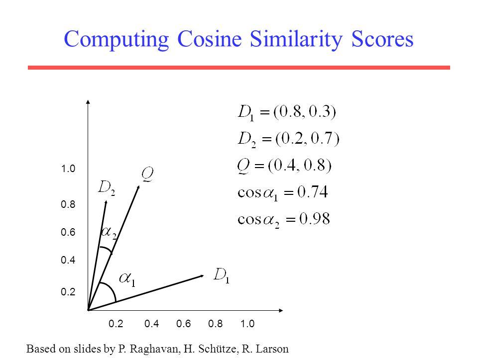 Computing Cosine Similarity Scores