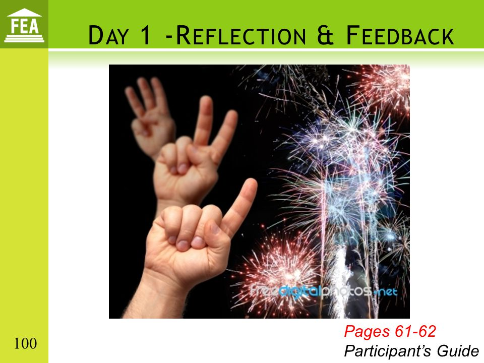Day 1 -Reflection & Feedback