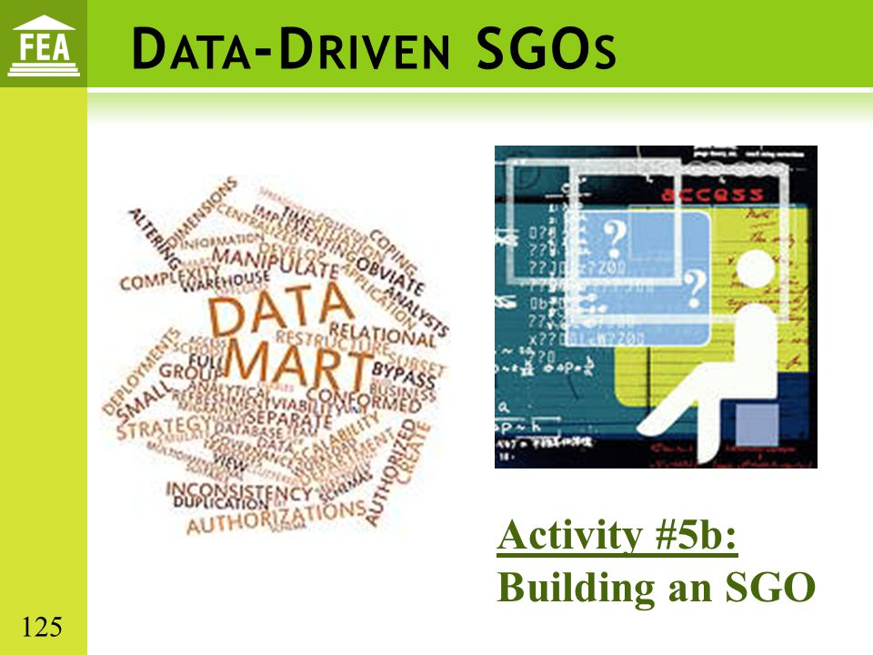 Data-Driven SGOs Activity #5b: Building an SGO 125