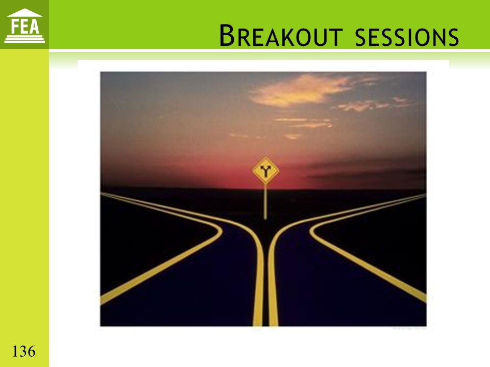 Breakout sessions 136