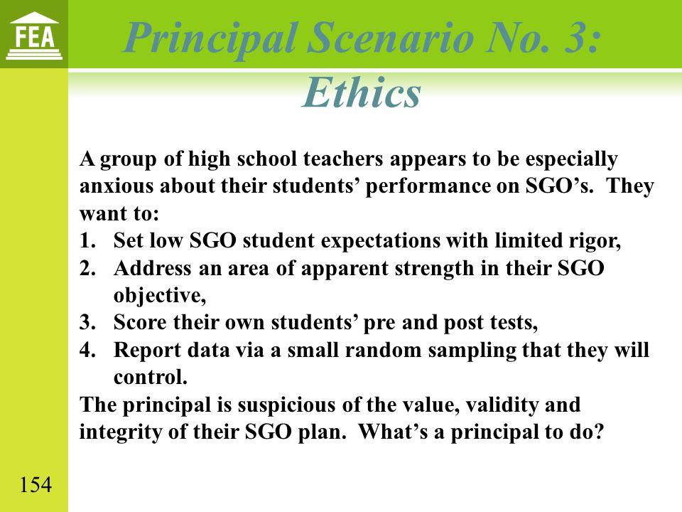 Principal Scenario No. 3: