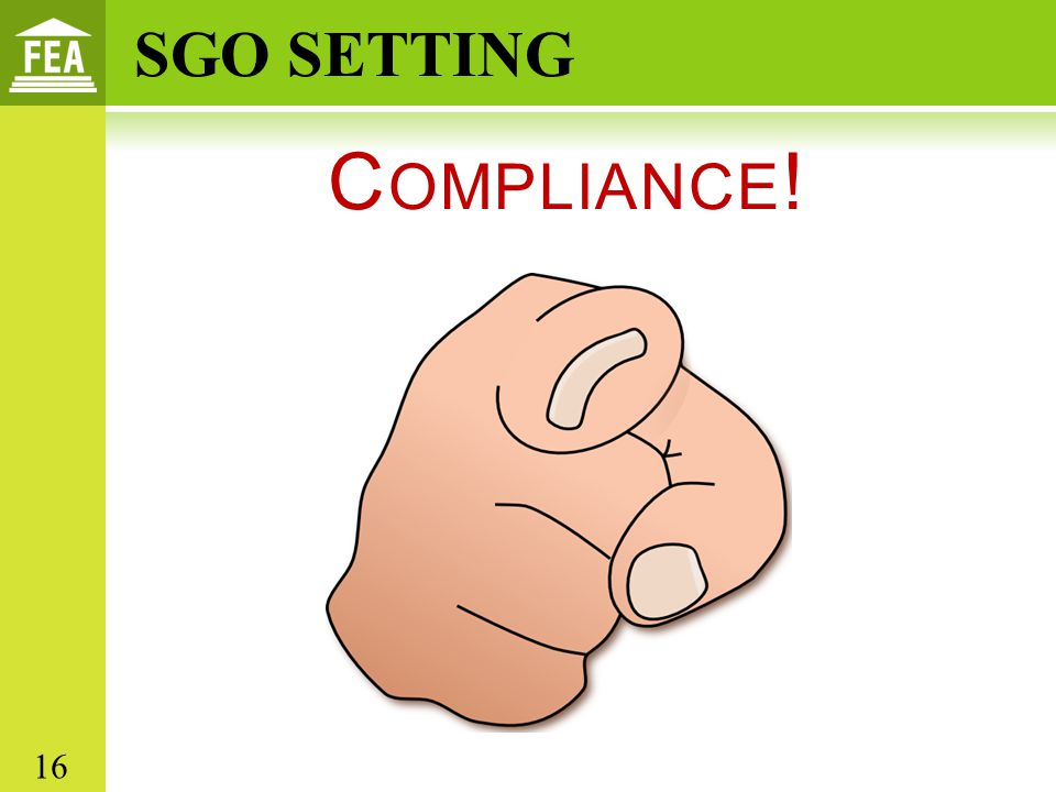 Compliance! SGO SETTING 16