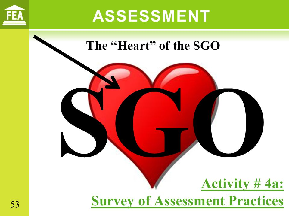 SGO ASSESSMENT Activity # 4a: Survey of Assessment Practices