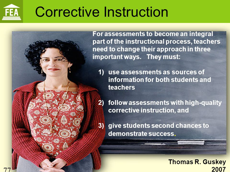 Corrective Instruction