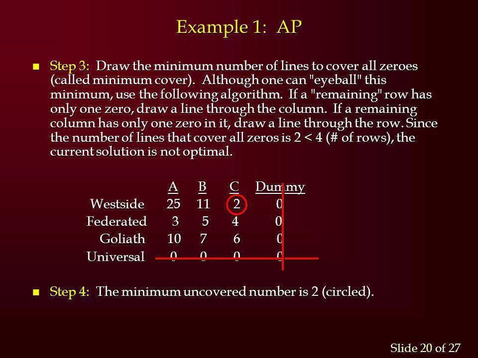 Example 1: AP