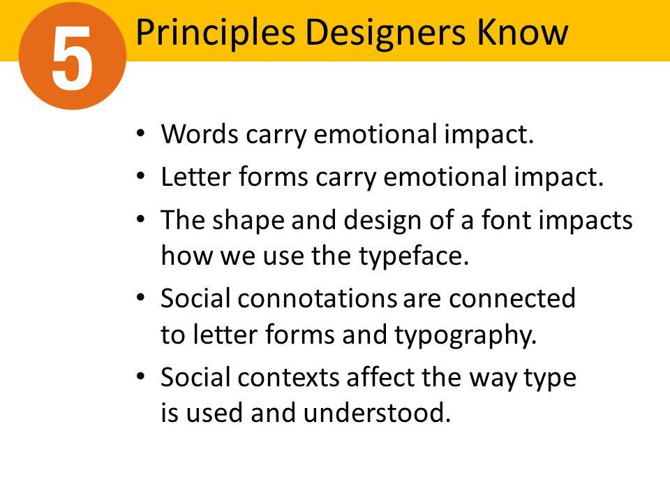 Principles Designers Know