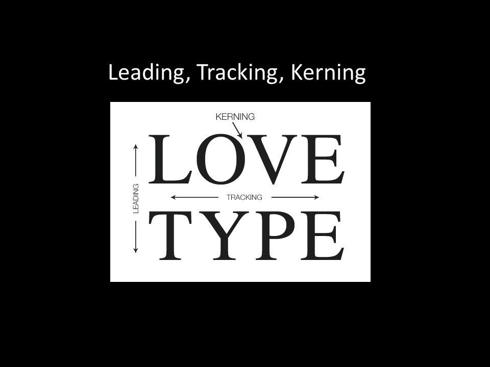 Leading, Tracking, Kerning