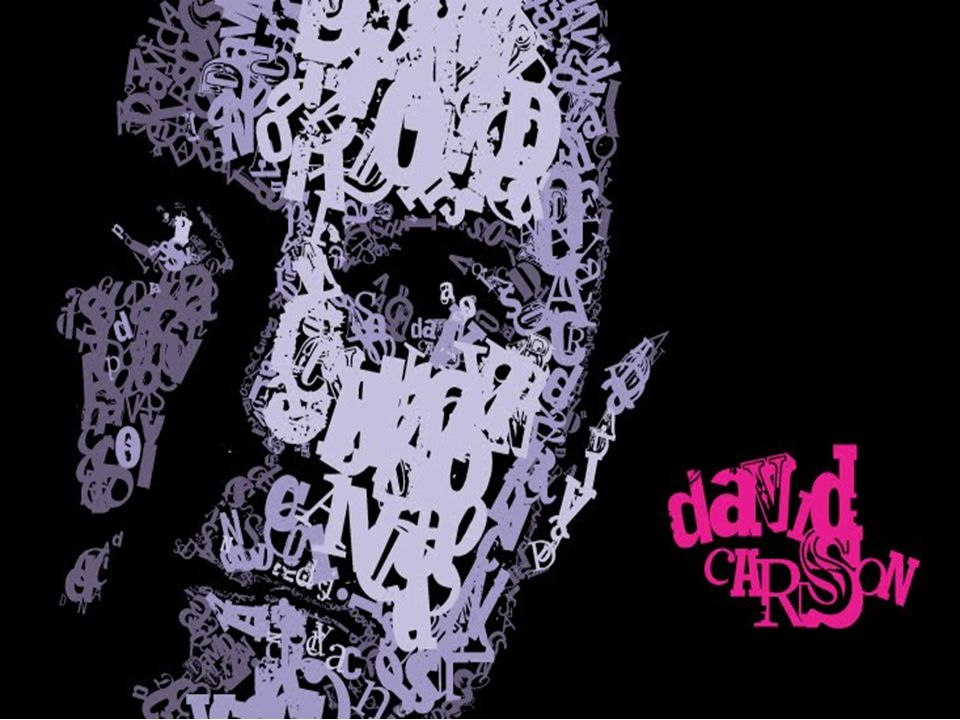 Here's David Carson's face illustrated using type only.