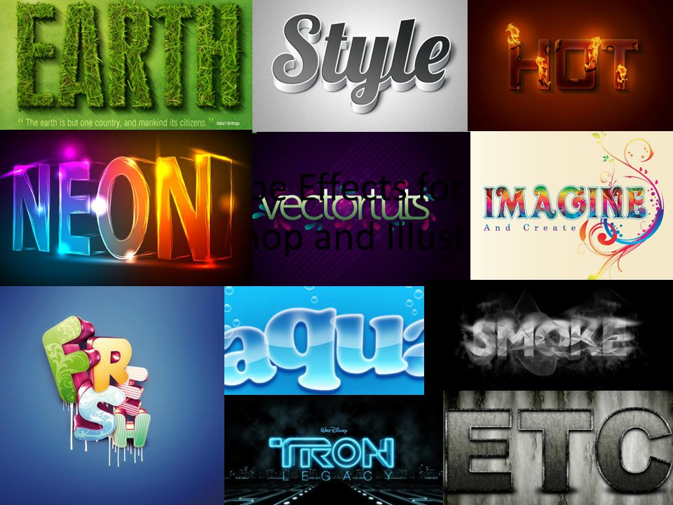Type Effects for Photoshop and Illustrator
