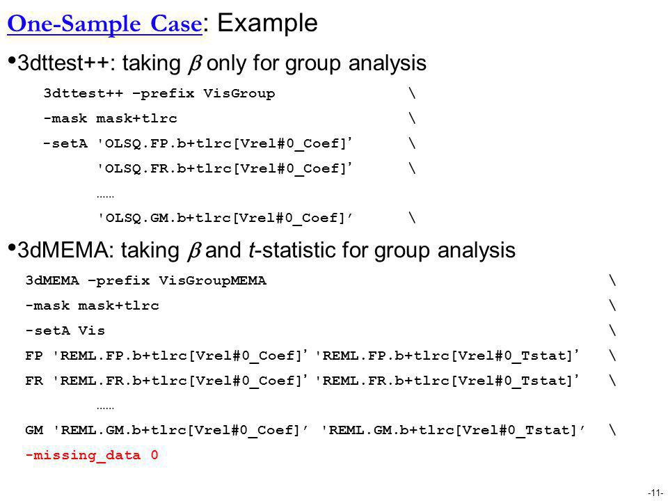 One-Sample Case: Example