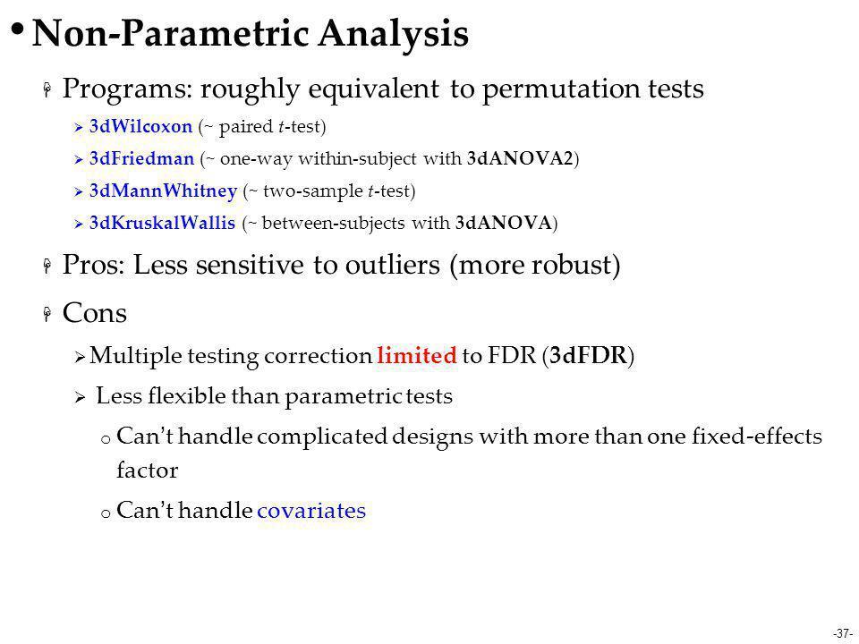 Non-Parametric Analysis
